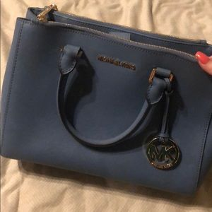 Blue Michael Kors purse